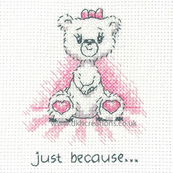 Peter Underhill Justine Just Because Greeting Card Cross Stitch Kit